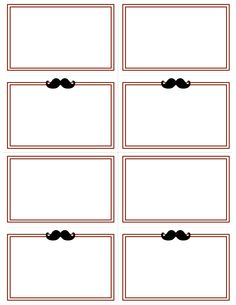 FREE Little Man Placecard printables