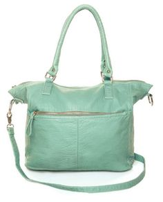 Mint is all over the place right now, and I think this bag would be a nice way to fit some in without being overwhelming. :) And click this link for 5 bucks off at Lulu's! :) http://buzzwat.ch/solve?UUID=24y7 #lovelulus