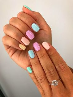Stunning Spring Nails & Nail Art Designs To Try This Year Easy Spring Nails & Spring Nail Art Designs To Try In Simple spring nails colors for acrylic nails, gel nails, shellac spring nails, a Summer Acrylic Nails, Cute Acrylic Nails, Acrylic Nail Designs, Cute Nails, Nail Art Designs, My Nails, Nails Design, Spring Nails, Long Nails