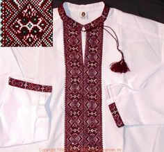 Men's Shirts, Embroidery, Traditional, Stitch, Red, Color, Clothes, Black, Fashion