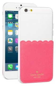 Free shipping and returns on kate spade new york scallop leather stick-on smartphone case pocket at Nordstrom.com. A scallop-frilled leather pocket, just big enough for a couple of cards and a bit of cash, is made to stick onto the back of your smartphone, for a convenient way to minimize baggage when you're headed out.