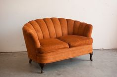 Burnt Orange Love Seat