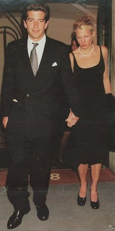 I wonder if this photograph was taken in the beginning of their relationship. Carolyn appears to shying away from camera ~ Carolyn Bessette Kennedy