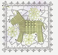 Ivelise Hand Made: Square Lindo With Bichinho!applications - Fleurs et Applications au CrochetWorld crochet: Motif patterns, lace and motifsNotikaland is website dedicated to crochet and knitting tutorials. Filet Crochet, Crochet Motifs, Crochet Buttons, Crochet Blocks, Crochet Diagram, Crochet Squares, Crochet Chart, Crochet Stitches, Point Granny Au Crochet