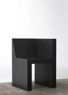 Rick Owens HALF BOX (BLACK PLYWOOD) 2011 Black PLywood Limited Edition of 50 H 77 / L 50 / W 50 (cm) H 30.3 / L 19.7 / W 19.7 (inches)