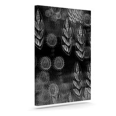 "Marianna Tankelevich ""Grey Dream"" Black Gray Outdoor Canvas Art"