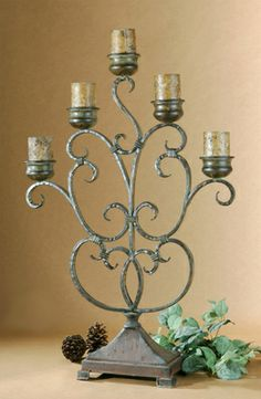 Tuscan Candle Holder