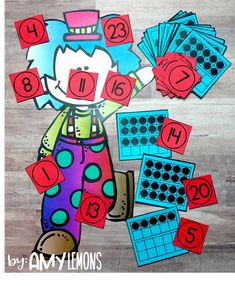 Pin the Nose on the Clown!  Kindergarten Math Numbers 1-20 with Ten Frames
