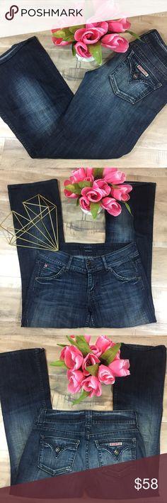 Hudson Jeans Dar Wash Boot Cut Flap Pocket Size 28 ❤️ Super Cute ❤️ Excellent Condition ❤️ No Flaws ❤️ Measurements 📏📏 Hudson Jeans Jeans Boot Cut