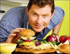 Bobby Flay is a well known chef in the food industry. He has guess starred on several television shows for his great abilities in the kitchen.