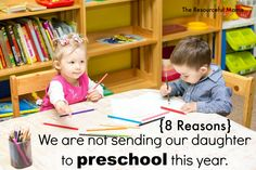 Not sure when to start sending your child to preschool.  Read 8 reasons we are not sending our daughter to preschool this year.