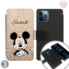 Cartoon Mouse Collection Personalised Flip Wallet Phone Case - 3