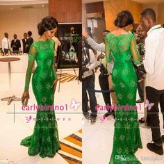 Wholesale cheap evening dress online, 2014 fall winter - Find best 2015 new arrival red carpet celebrity miss nigeria mermaid long sleeves green lace celebrity inspired dress formal evening dresses bO5555 at discount prices from Chinese celebrity dresses supplier on DHgate.com.