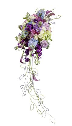 How to Make Your Own Cascading Bouquet With Silk or Fresh Flowers and Foliage