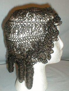Rare 1850's hair wig - worn by Rosa Perigo Fales, made of real braided hair.