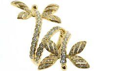 """Online veilinghuis Catawiki: Ring """"Libelle"""" in 18 karaat geelgoud bezet met witte diamanten"""