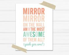 Graphic Art Print Mirror Mirror on The Wall in by YellowHeartArt, $20.00