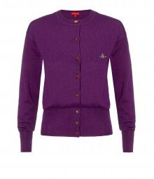 Purple Classic Cardigan
