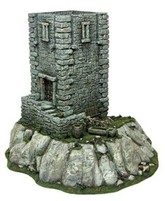 Tabletop Scenery - Page 5 Motte And Bailey Castle, Styrofoam Art, Model Castle, Hirst Arts, Terrarium, Medieval Fortress, Wargaming Terrain, Fantasy House, Painting Services