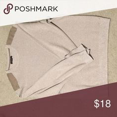 Men's Sweater Shoulder pads and soft fabric - 80% cotton 20% silk. Looks formal and guaranteed to receive compliments. Tasso Elba Sweaters Crewneck