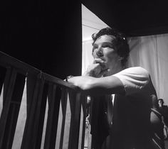 Benedict Cumberbatch watching Sophie Hunter on stage.