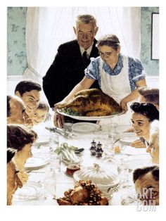 """Freedom From Want"", March 6,1943 Giclee Print by Norman Rockwell at Art.com"