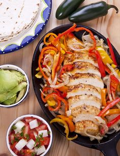 #chicken #marinades #sauces Cook the marinated chicken with onions, bell pepper and anything else you like, then serve with tomato salsa, avocado and tortillas like in ...