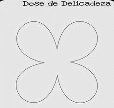 molde flor 4 petalas de papel pequeno - Pesquisa Google