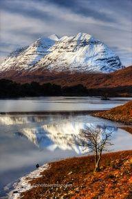 Liathach and Loch Clair. Torridon. Scotland
