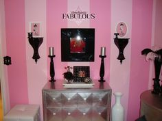 Marlene Crookston Willis Black, White & Pink Paris themed bedroom ...