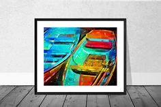 Henley Art Print Henley on Thames Art Red and Blue Boats