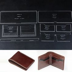 WUTA Leather Acrylic Template for Men's Short Wallet DIY Wallet Pattern WT870