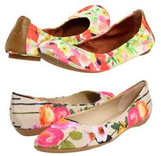 More floral shoe options by Lucky Brand and Nine West