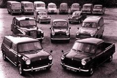 The Austin Light Commercial Range. Mini Van & Pick Up, FX4 Taxi, A60 Van & Pick Up, Minor Van & Pick Up, EA Vans, JU250 Van, Minibus & Pick Up and J4 Van & Pick Up Classic Mini, Vans Classic, Commercial Vehicle, Classic Trucks, Mini Me, Old Trucks, Jaguar, Automobile, Nostalgia