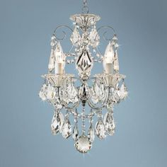 Schonbek Silver Palace Crystal Mini Chandelier  Style # 50886........this is it!!!!!!!!