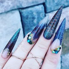 killed it with these nails using the entire mermaid acrylic collection! What do you think? Glitter Acrylics, Acrylic Nails, Nail Supply, Nail Technician, Fun Nails, Nail Designs, Mermaid, Polish, Nail Art
