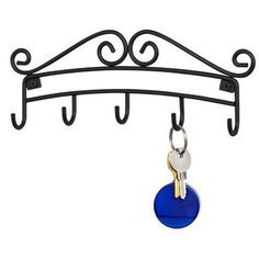 Found it at Wayfair - Spectrum Diversified Scroll Wall Mount Key Rack Mail Organizer Wall, Office Organization, Key Rack, Key Hooks, Wall Racks, Iron Decor, Scroll Design, Steel Wall, Baskets On Wall