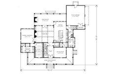 Southern Gothic by Mitch Ginn Plan SL-1921 - move garage to make it shallower.