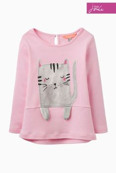 Joules Pink Stripe Catrin Cat Top