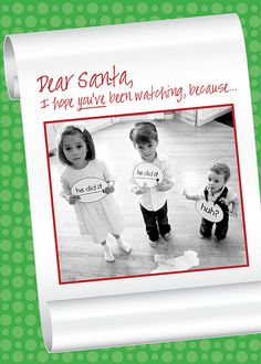 Christmas card idea - Dear Santa
