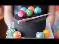 Торт для Мужа.Бисквит на пиве.Черный велюр.Оформление шоколадными шарами - Я - ТОРТодел! - YouTube