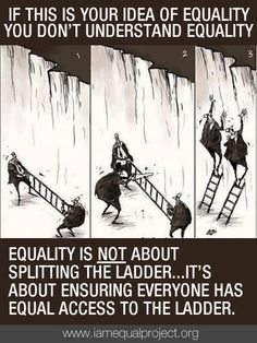 SETTING THE RECORD STRAIGHT....The fight for equality is not an effort to take something from one person and give it to someone else. The Equality Movement is about giving equal access to the vital rights and services that benefit all of society...health, education, housing, transportation, information, etc.