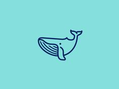 Whale by Dimitrije Mikovic #Design Popular #Dribbble #shots
