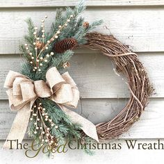 Gold Christmas Grapevine Wreath, Christmas Wreath, Front Door Wreath, Country Christmas Wreath, Rust The Effective Pictures We Offer You About DIY Wreath step by step A quality picture can tell you ma Christmas Wreaths For Front Door, Christmas Door Decorations, Holiday Wreaths, Door Wreaths, Rustic Wreaths, Make Your Own Wreath Christmas, Winter Wreaths, Diy Wreath, Grapevine Wreath