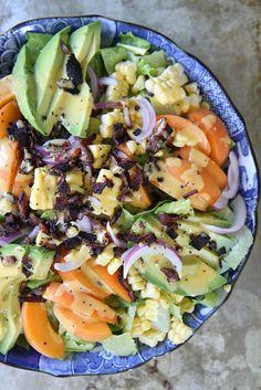 Summer Salad with Apricot Poppyseed Dressing and Bacon Crumbles by Heather Christo, via Flickr
