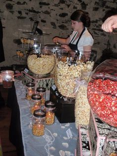 Our gourmet popcorn bar!