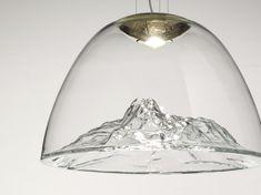 Lampada a sospensione a LED in vetro soffiato MOUNTAIN VIEW | Lampada a sospensione by AXOLIGHT
