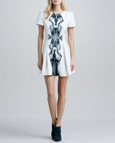 Cameo Star of Wonder Puff-Sleeve Dress - Neiman Marcus <3