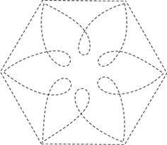 Sashiko Motif of the Month from Quiltmaker, sponsored in January by Gammill Hand Quilting Designs, Machine Quilting Patterns, Quilting Stencils, Quilting Templates, Quilting Projects, Quilt Patterns, Hexagon Quilting, Longarm Quilting, Quilt Art