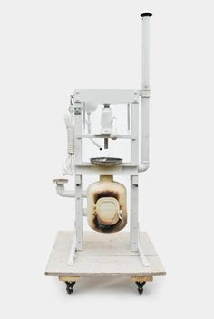 The Sea Press is a furnace and hydraulic press that fits on a small fishing vessel for the production of chairs and briquettes made from harvested plastic from the ocean